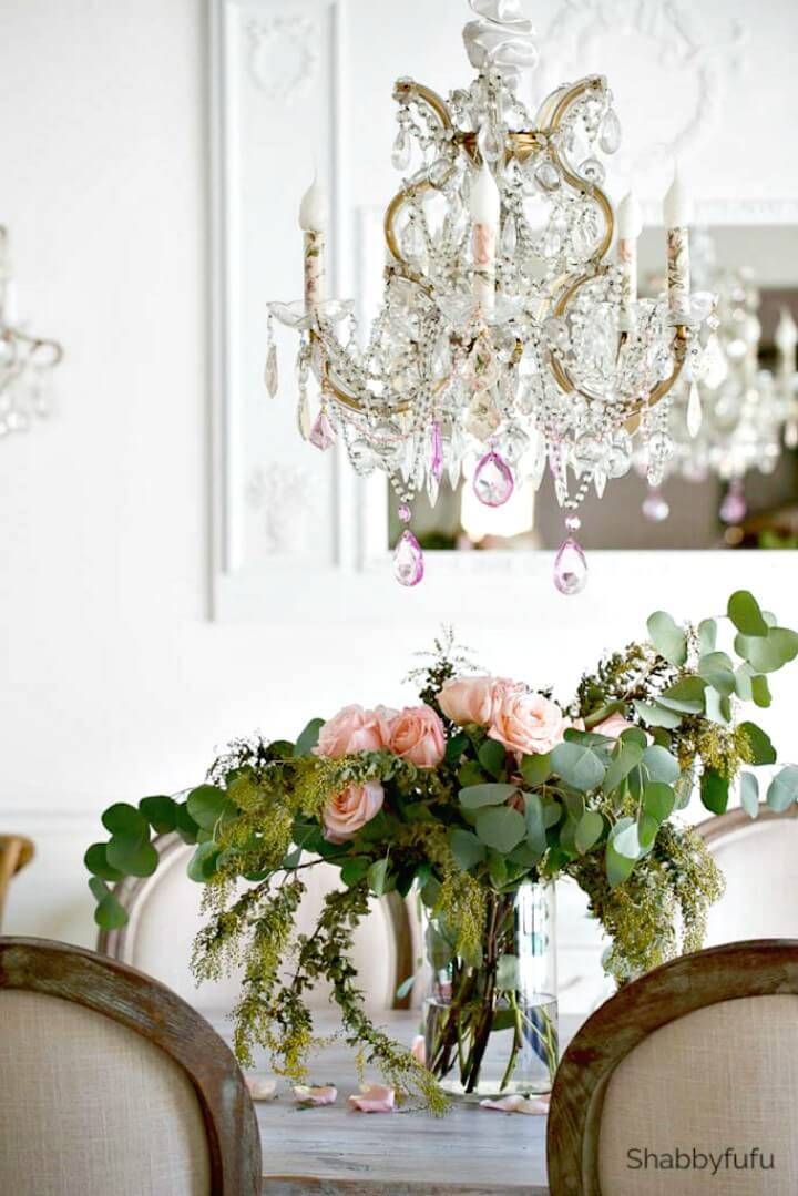 Chandelier Makeover Idea For Spring - DIY Chandelier Ideas