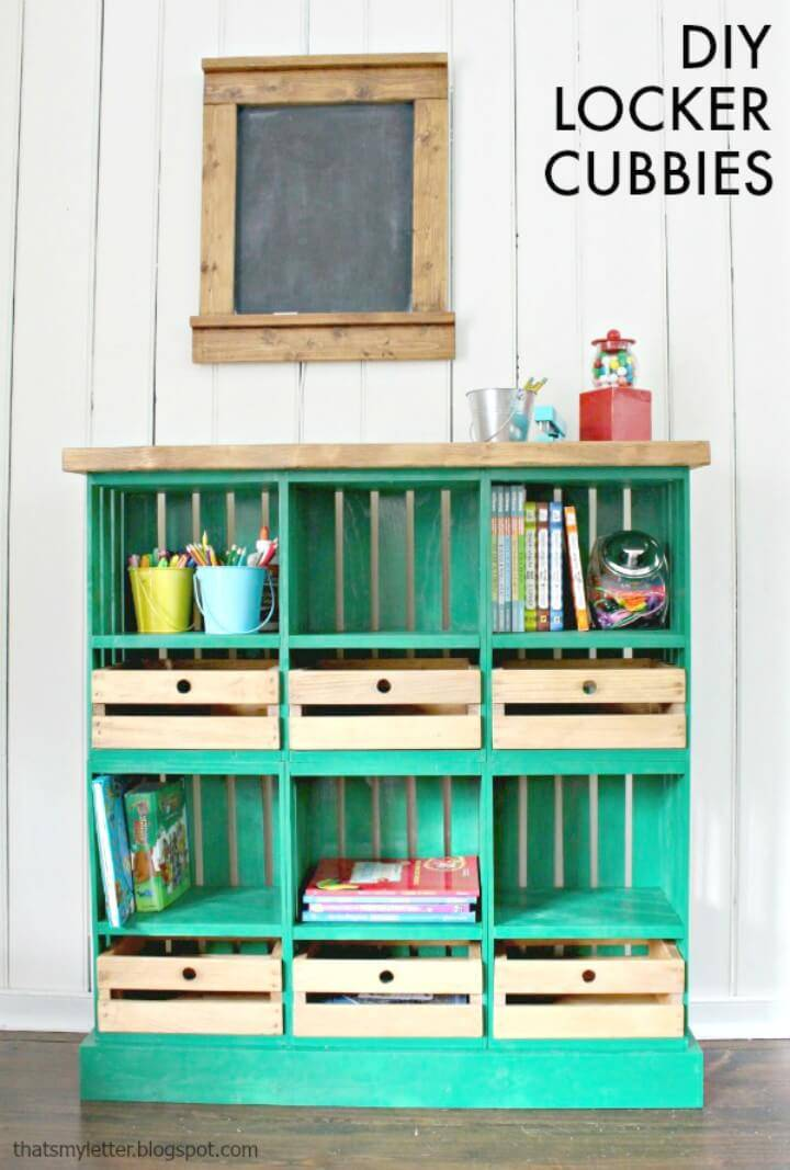 How To Make Crate Locker Cubbies & Giveaway
