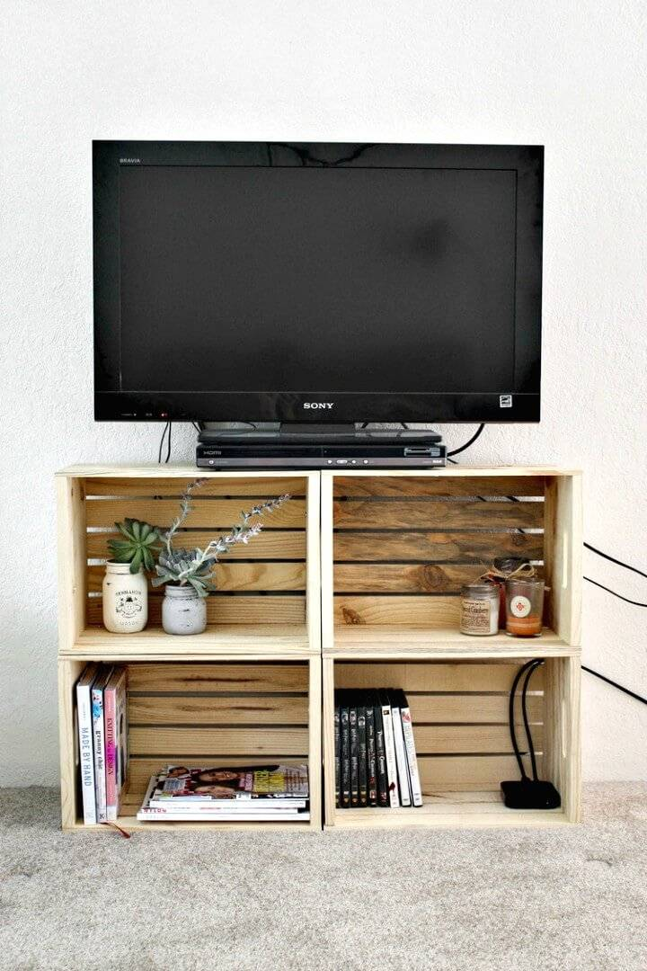 Easy DIY Crate TV Stand - Step by Step Tutorial