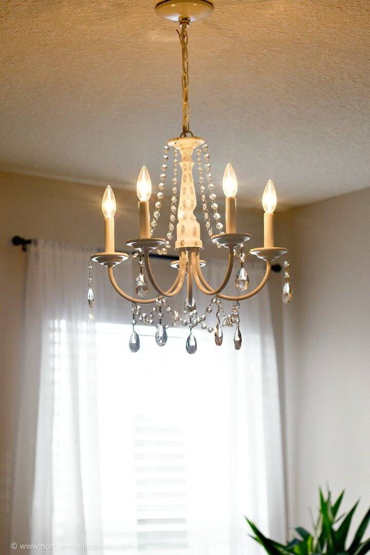 DIY Crystal Chandelier - Homemade Lighting Ideas