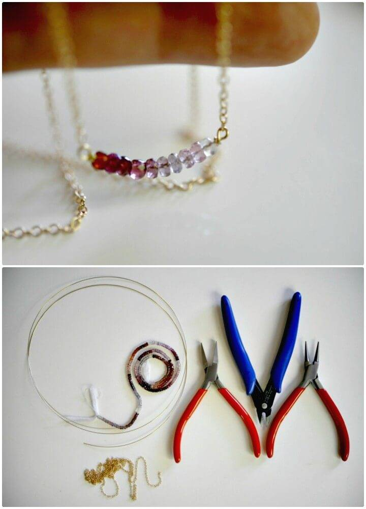 Adorable DIY Delicate Necklace