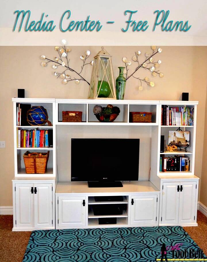 Easy DIY Entertainment Center Tutorial - Pallet Ideas
