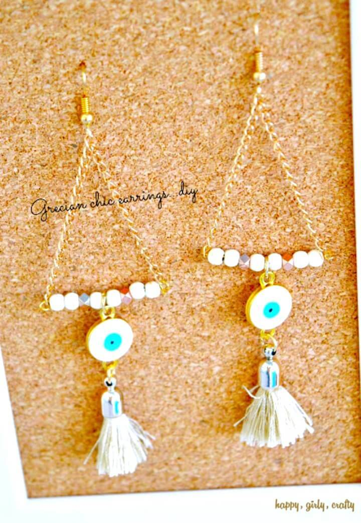 How To Make Evil Eye And Tassel Statement Earrings - DIY