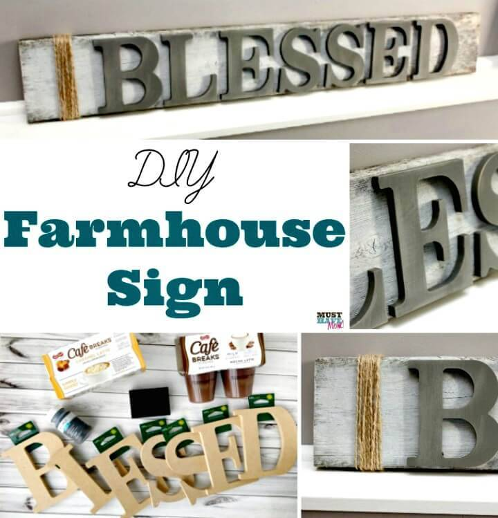How To Make Farmhouse Wood Signs - DIY