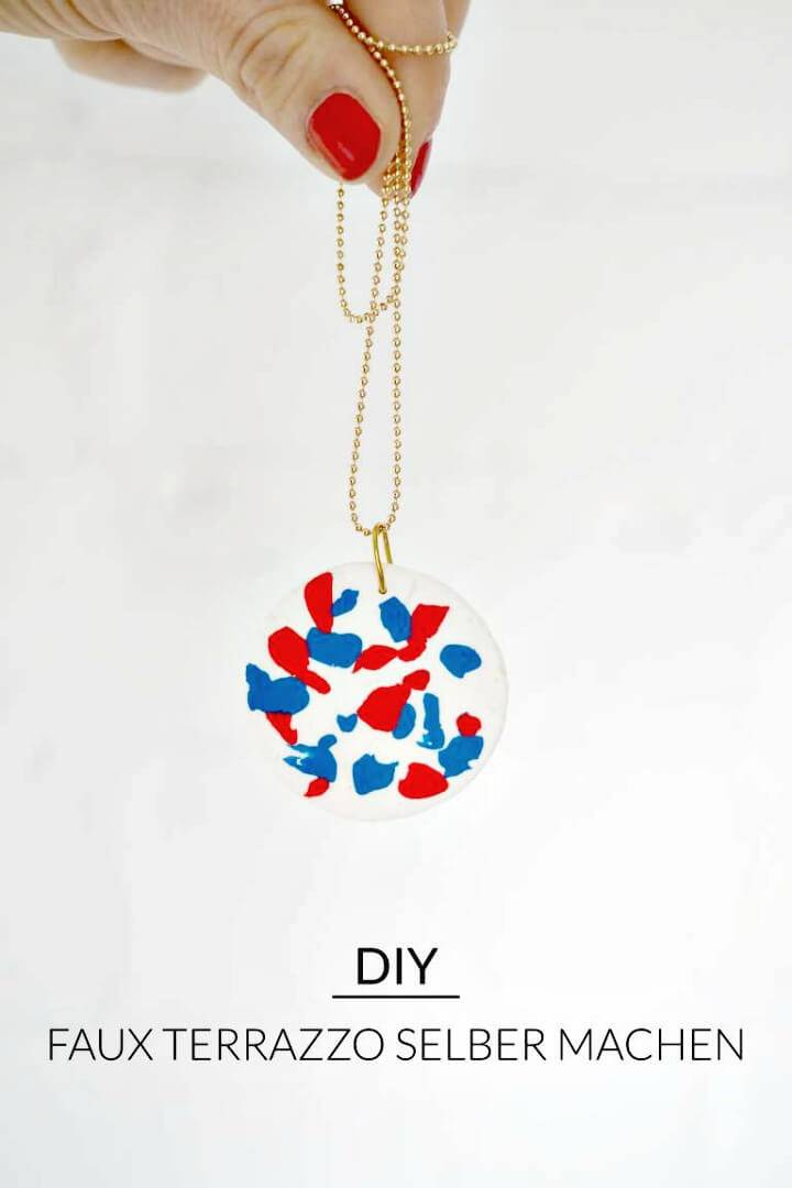 How To Make Faux Terrazzo Necklace - DIY