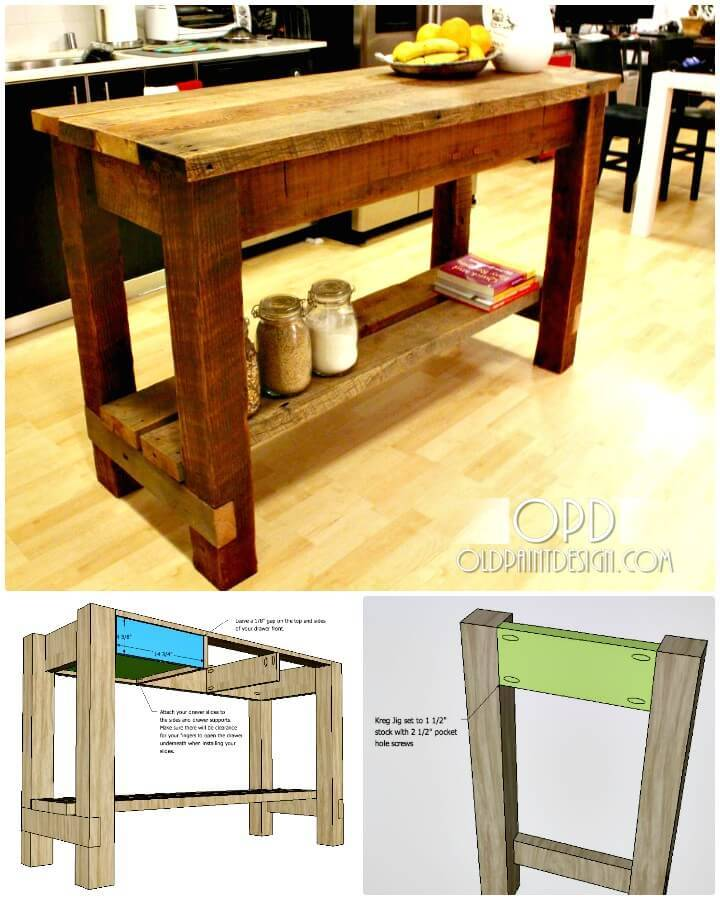 Easy DIY Gaby Kitchen Island Tutorial