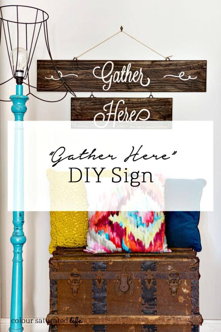 "How To Make ""Gather Here"" Sign - DIY"