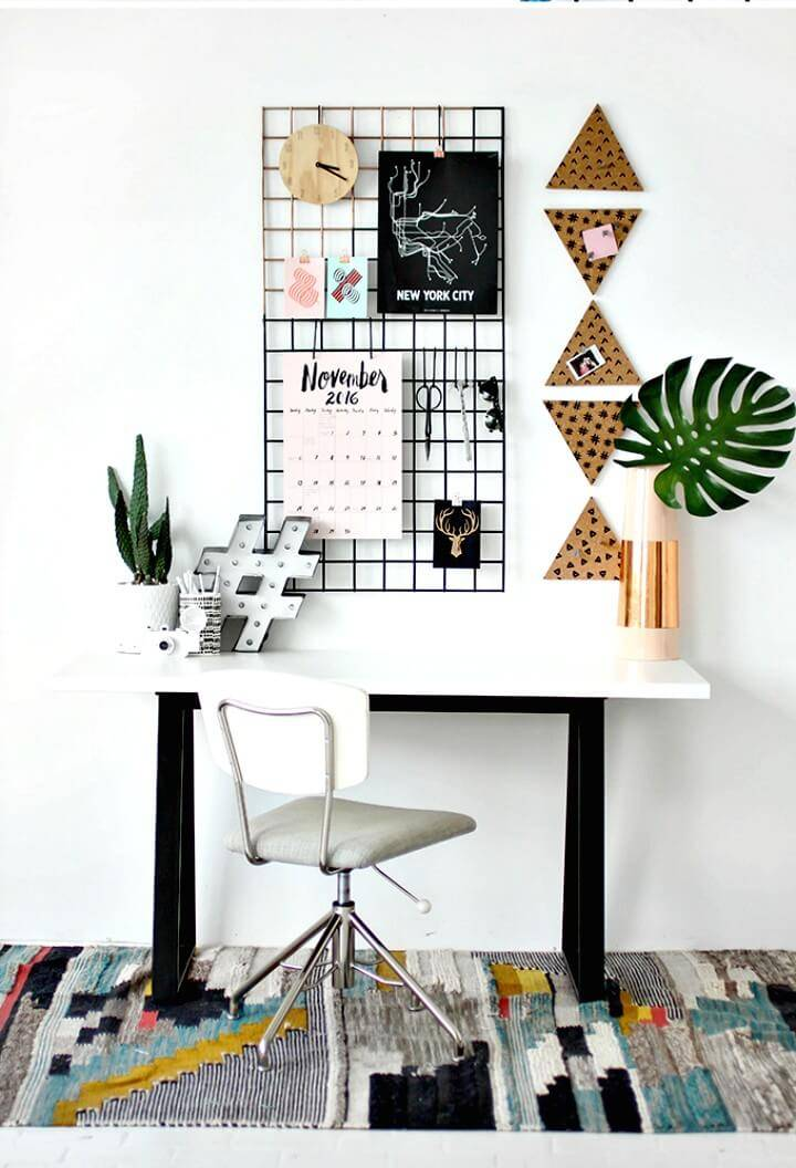 How To Make Grid Wall Organization