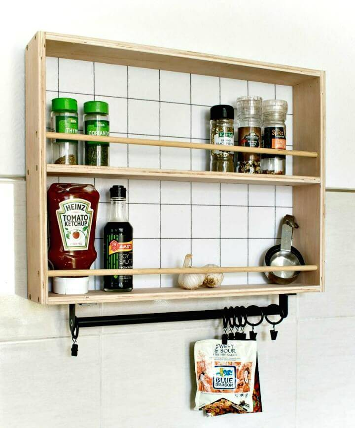 How To Make Hanging Spice Rack - DIY