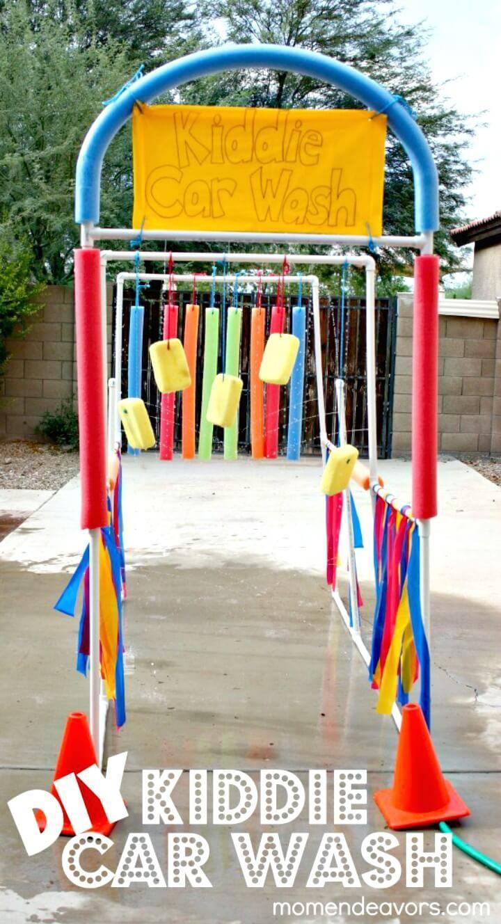 How To Make Kiddie Car Wash Tutorial - DIY Outdoor Games For Summer & Spring