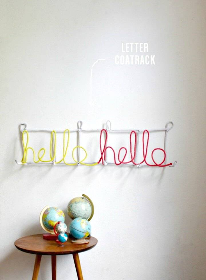 How To Make an Easy Letter Coat Rack