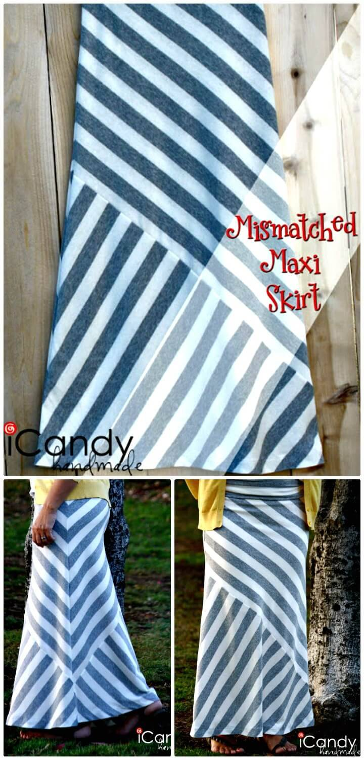 How To Make Mismatched Maxi Skirt - DIY