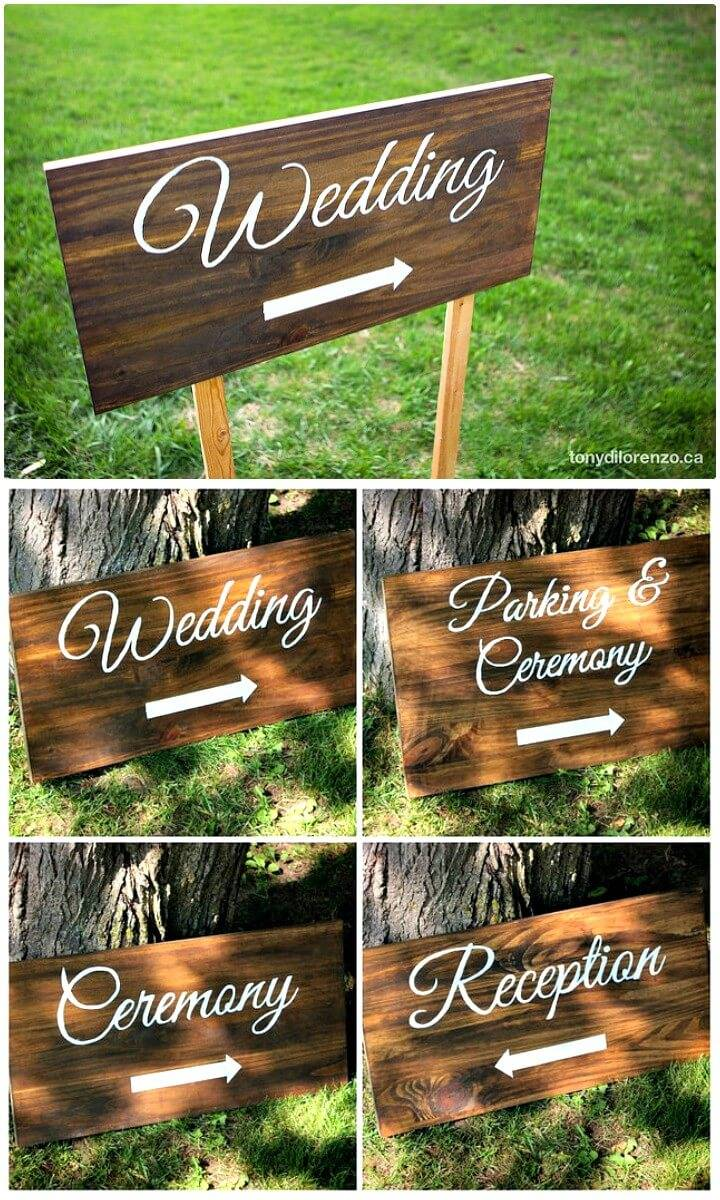 Make Painted Wedding Direction Signs - DIY