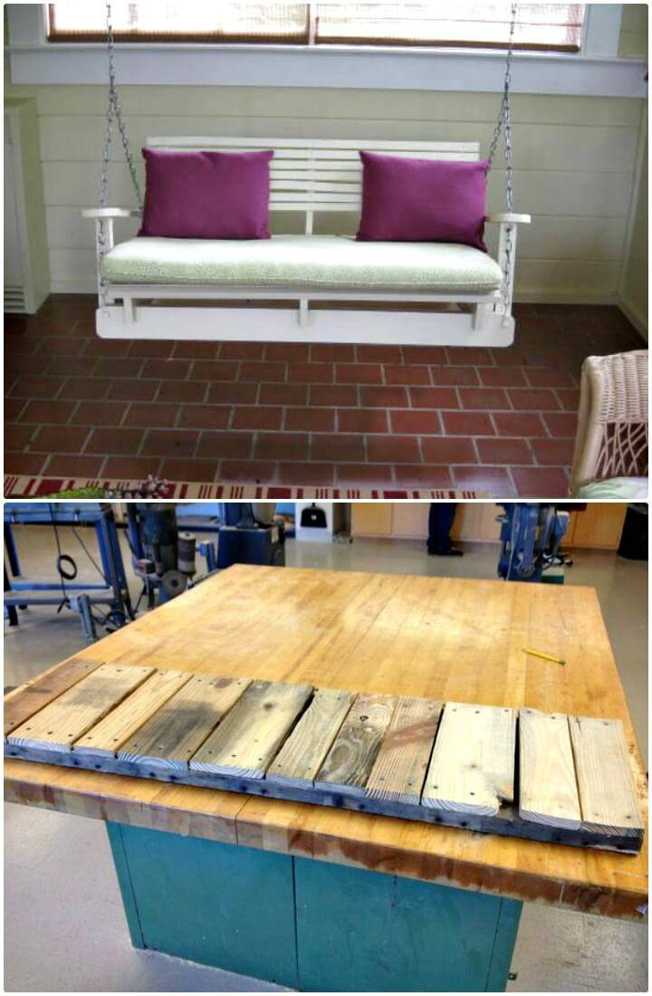 How To Make Pallet Swing Chair - DIY Garden Furniture Ideas