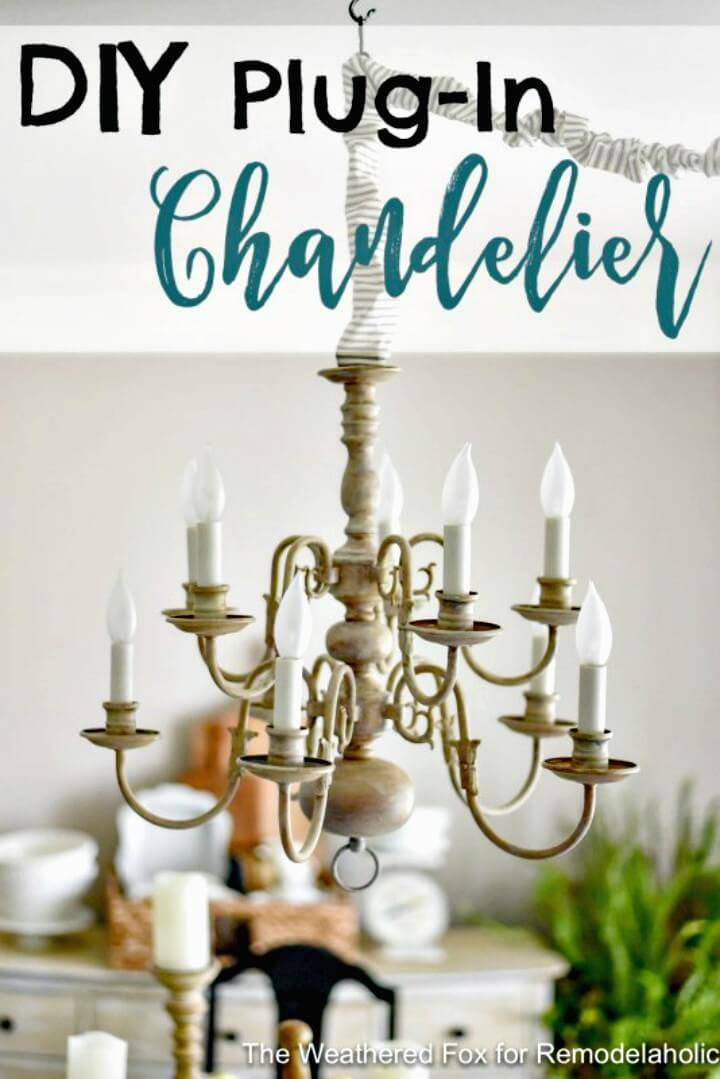 How To Make Plug-in Chandelier - DIY Indoor Lighting Ideas