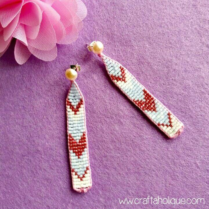 How To Make Pretty Chevron Beaded Earrings - DIY