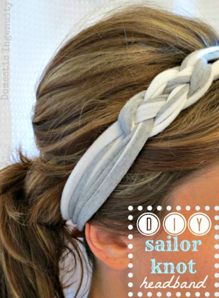 Easy How To Make Sailor Knot Headband