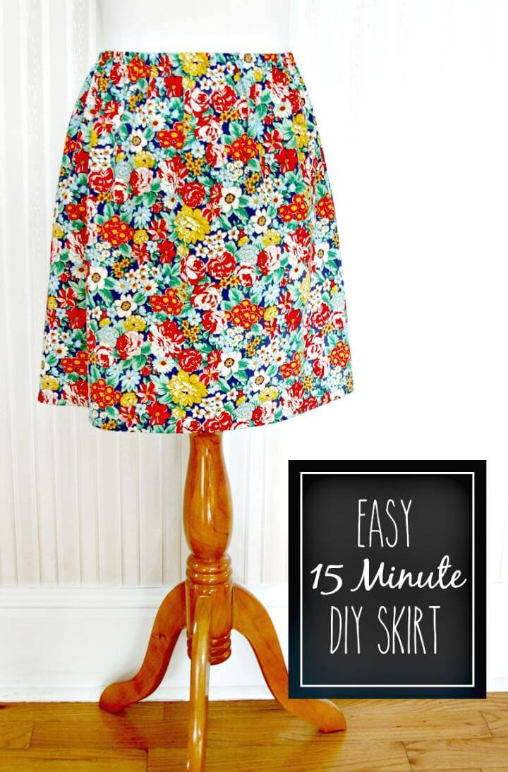 How To Make Skirt In 15 Minutes - DIY