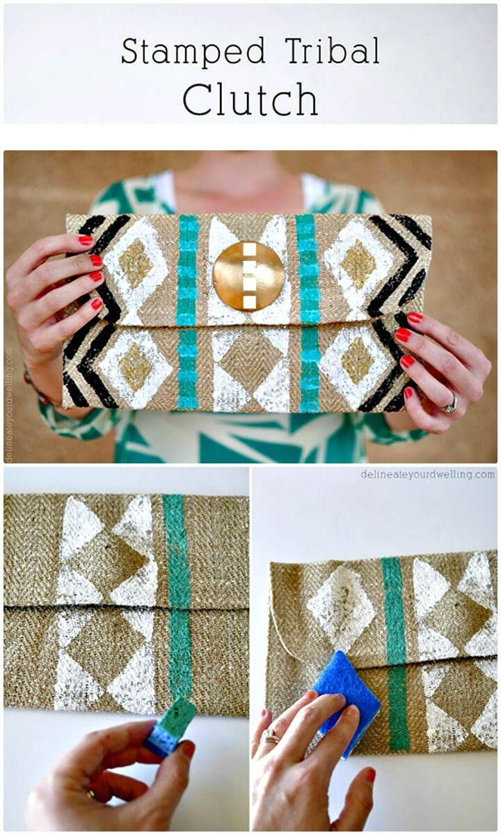 How To Make Stamped Tribal Clutch