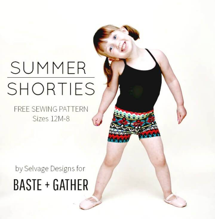 How To Make Summer Shorties For Kids - DIY