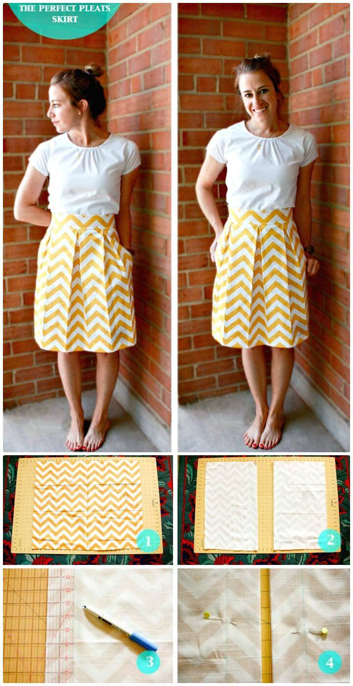 How To Make The Perfect Pleats Skirt - DIY