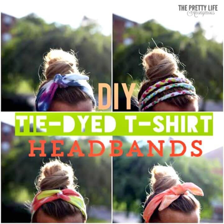 Easy How To Make Tie Dye Headbands From T-shirts