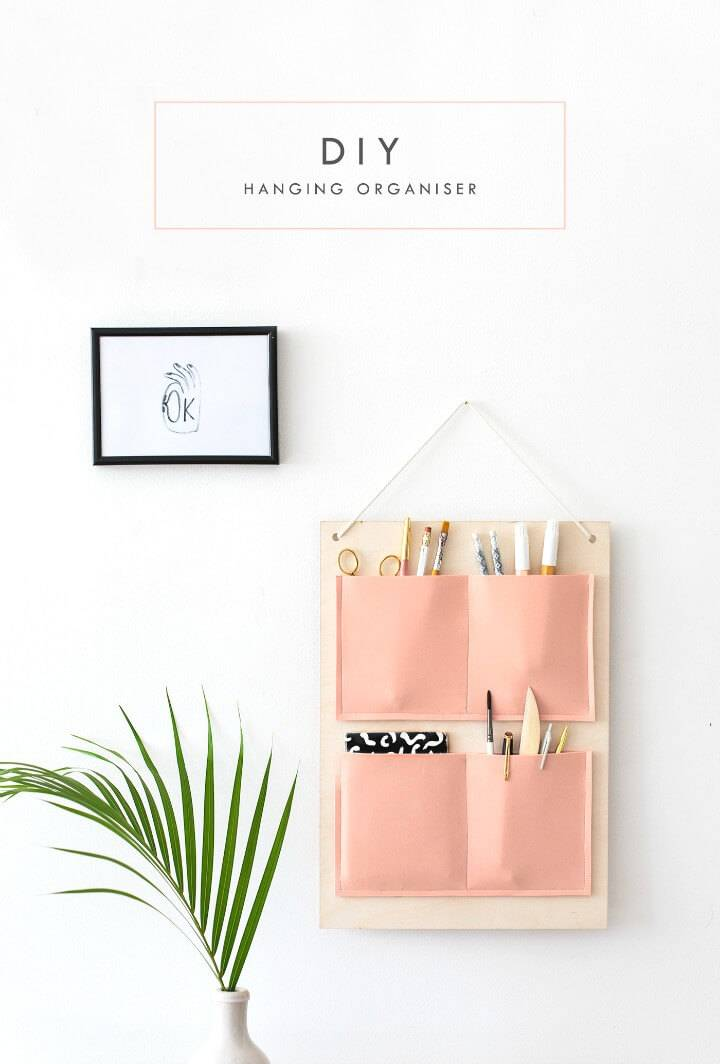 How To DIY Wall Hanging Organizer