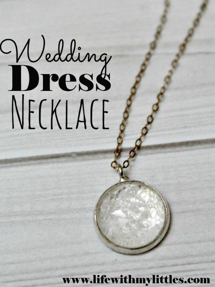 How To Make Wedding Dress Pendant Necklace - DIY