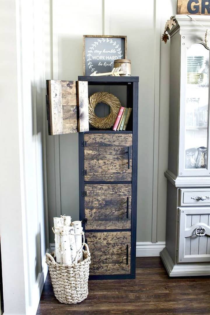 How To Make Wooden Rustic Cube Shelves - DIY