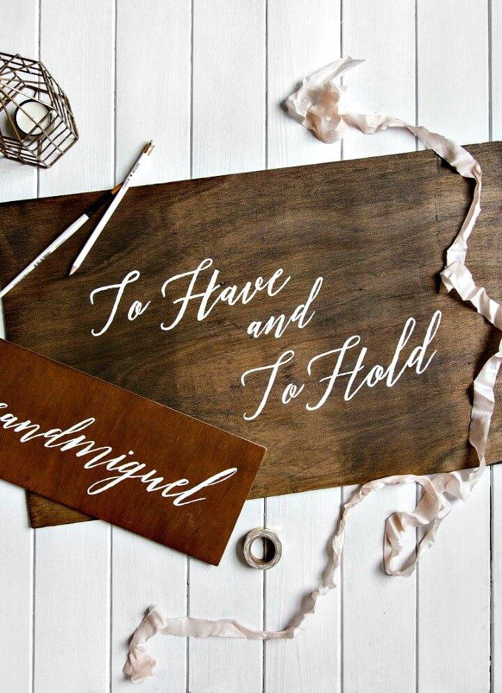 How To Make Wooden Wedding Signs - DIY