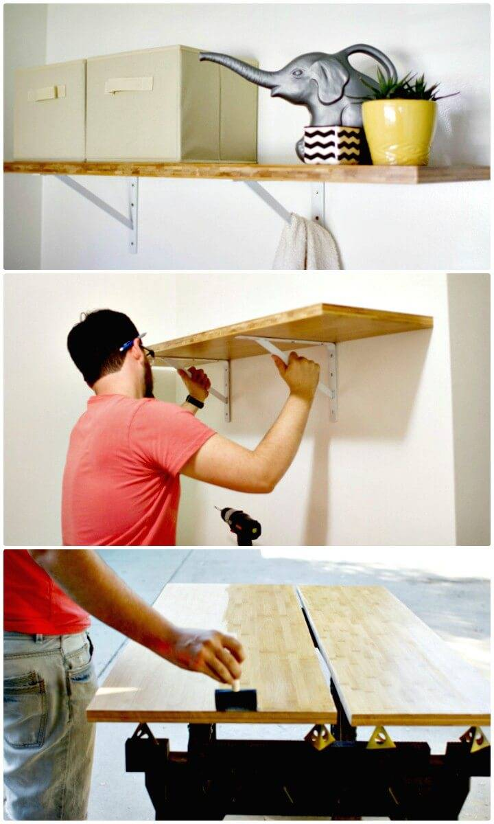 How To Make Your Own Laundry Room Shelf - DIY