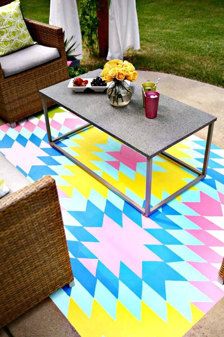 How To Make Your Own Outdoor Rug - DIY