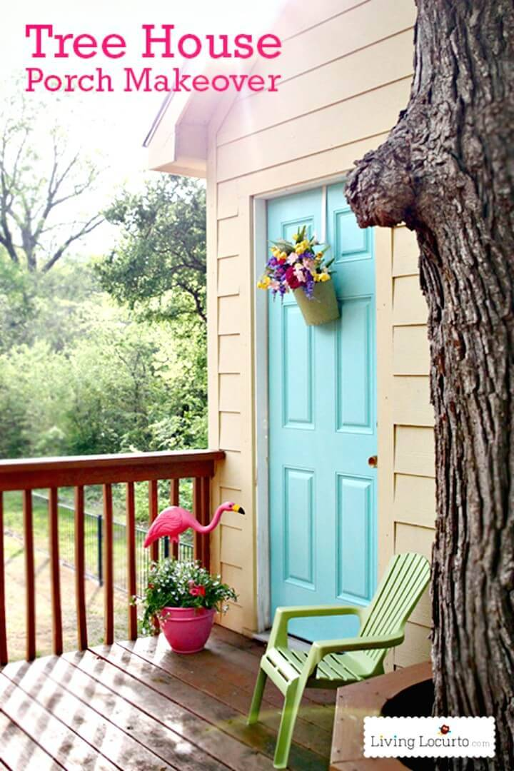How To DIY Tree House Porch Makeover