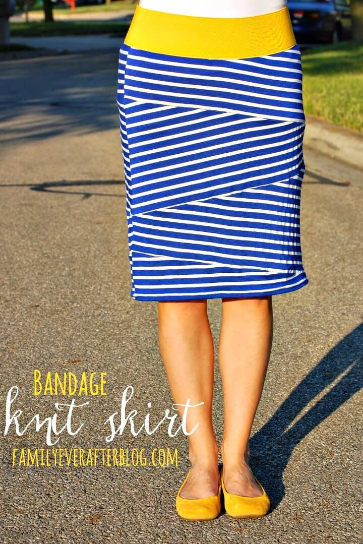 How To Sew Bandage Style Knit Skirt - DIY