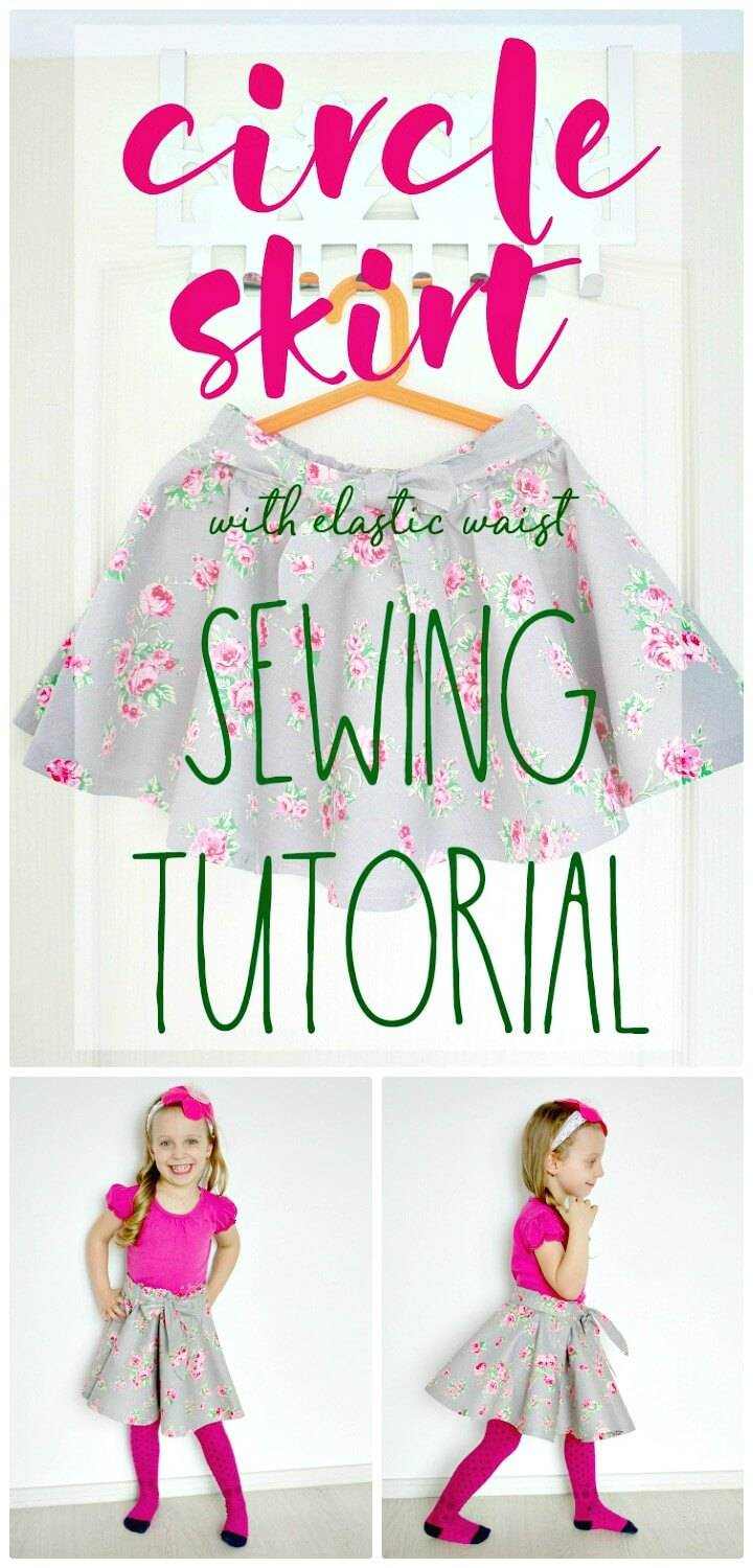 How To Sew Full Circle Skirt - DIY