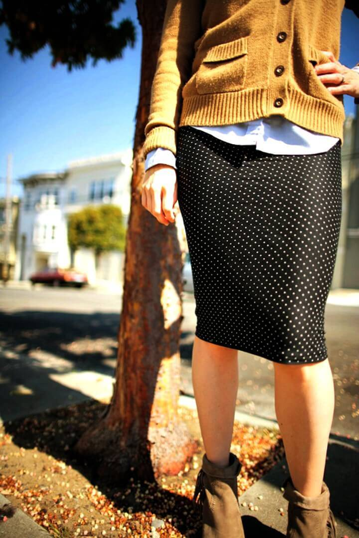 How To Sew Polka Dot Pencil Skirt Just In 15 Minute