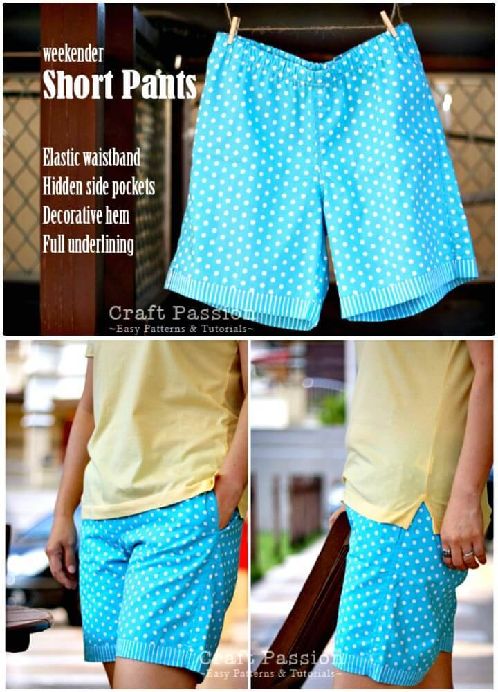 How To Sew Weekender Short Pants - DIY Outfits for Summer