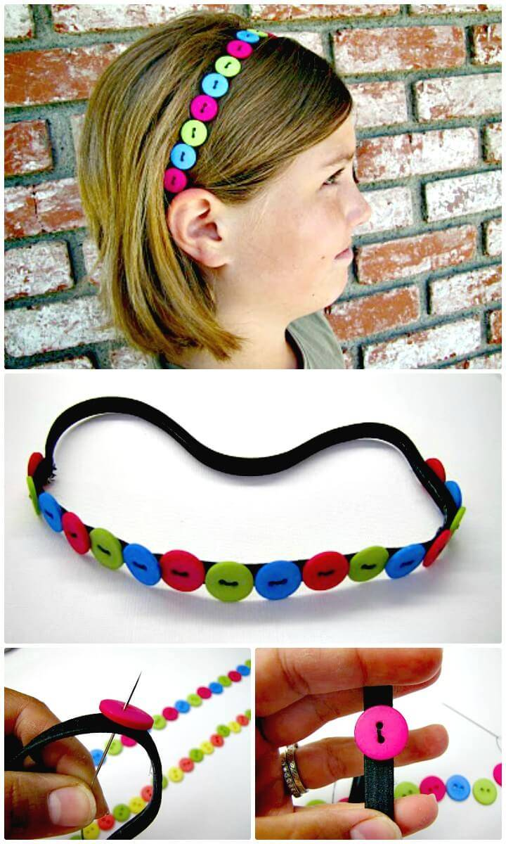 How To Sew a Button Headband for Your Kids - DIY