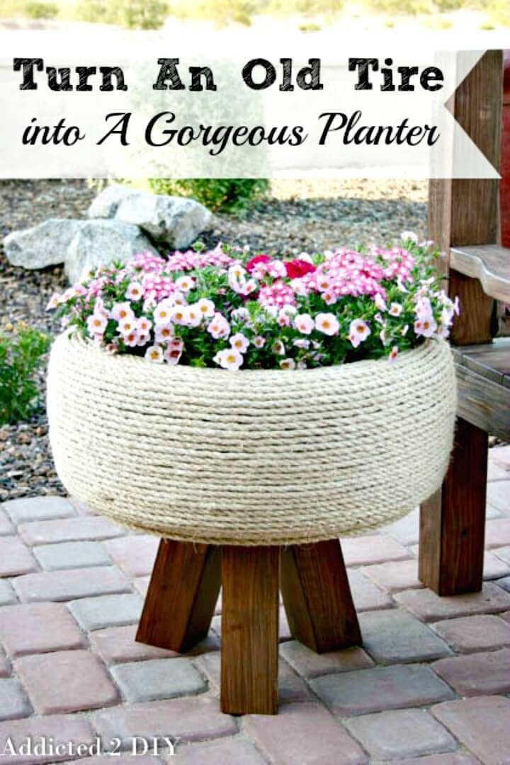How To Turn An Old Tire Into A Gorgeous Planter - DIY