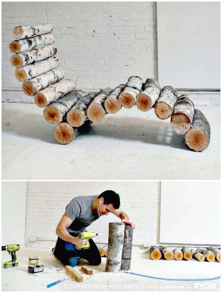 How To Turn Yard Waste into an Awesome Lounge Chair - DIY Backyard Ideas