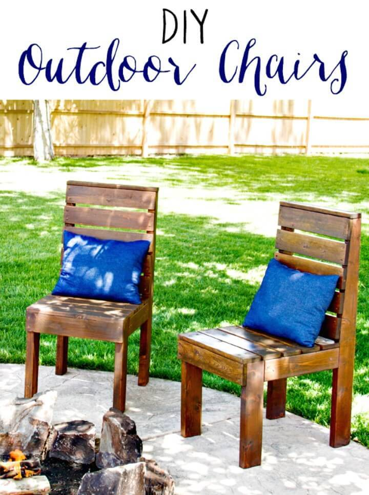 How to Build Garden Outdoor Chairs - DIY Furniture Ideas