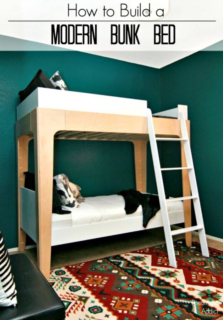 Modern to Build Bunk Bed - DIY