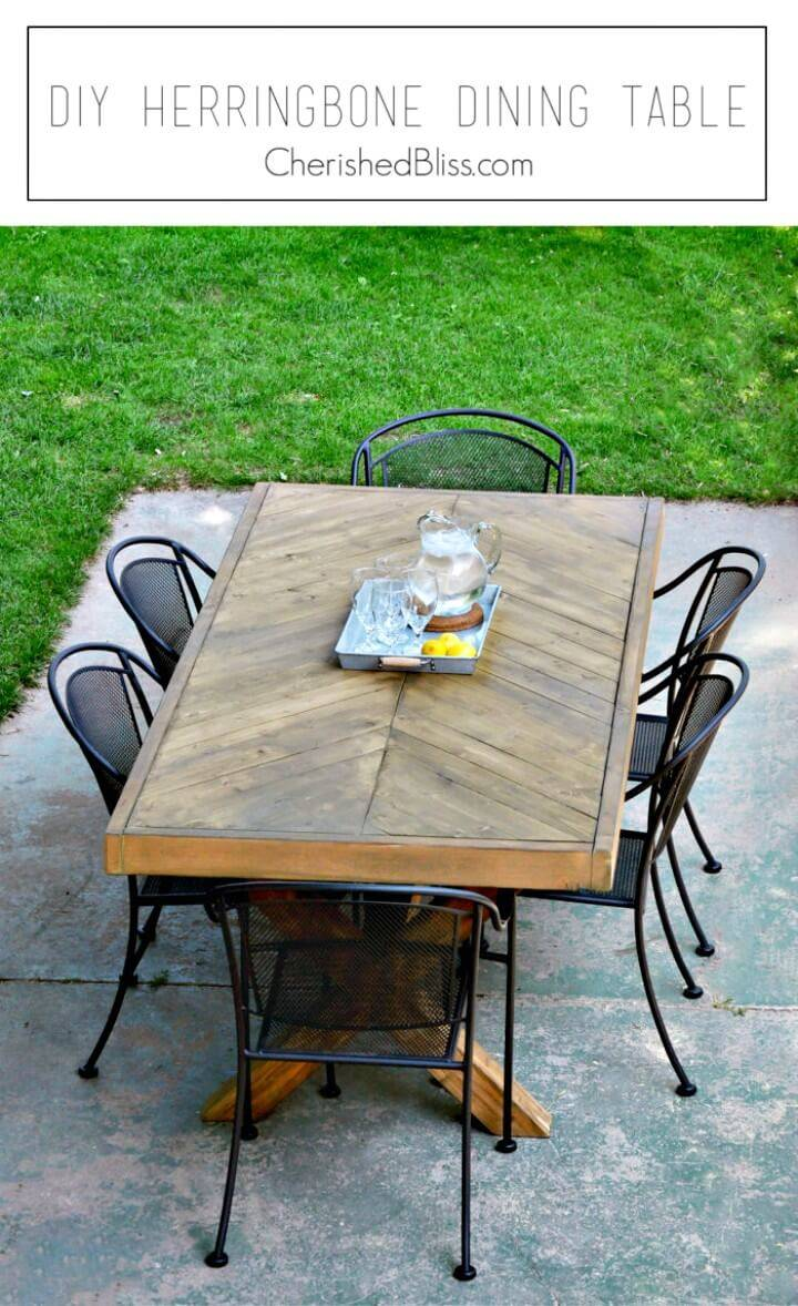 How to Build Outdoor Garden Table - DIY