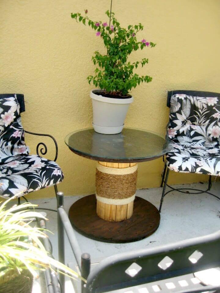 How to Build Rope Garden Table - DIY Garden Furniture Ideas