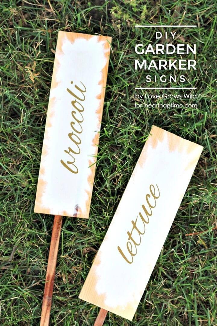 How to DIY Garden Marker Signs - Hello Summer
