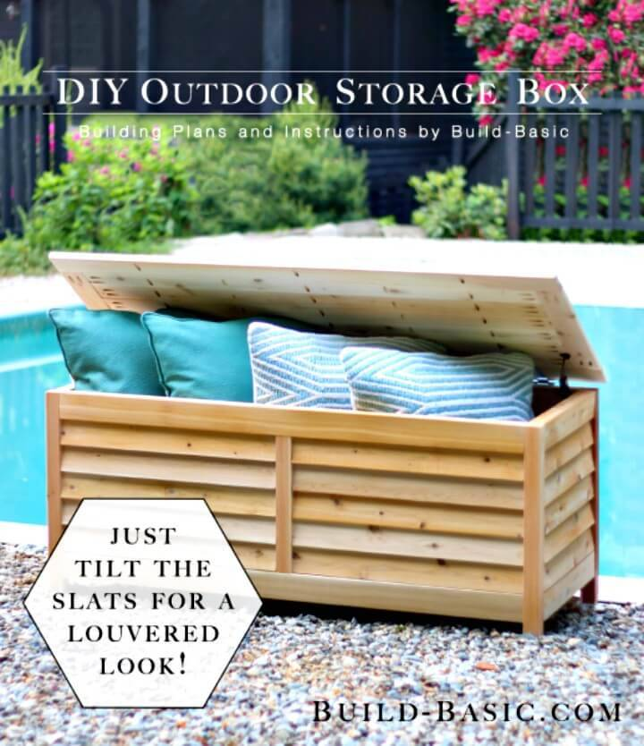 How to DIY Outdoor Storage Box - Backyard Ideas