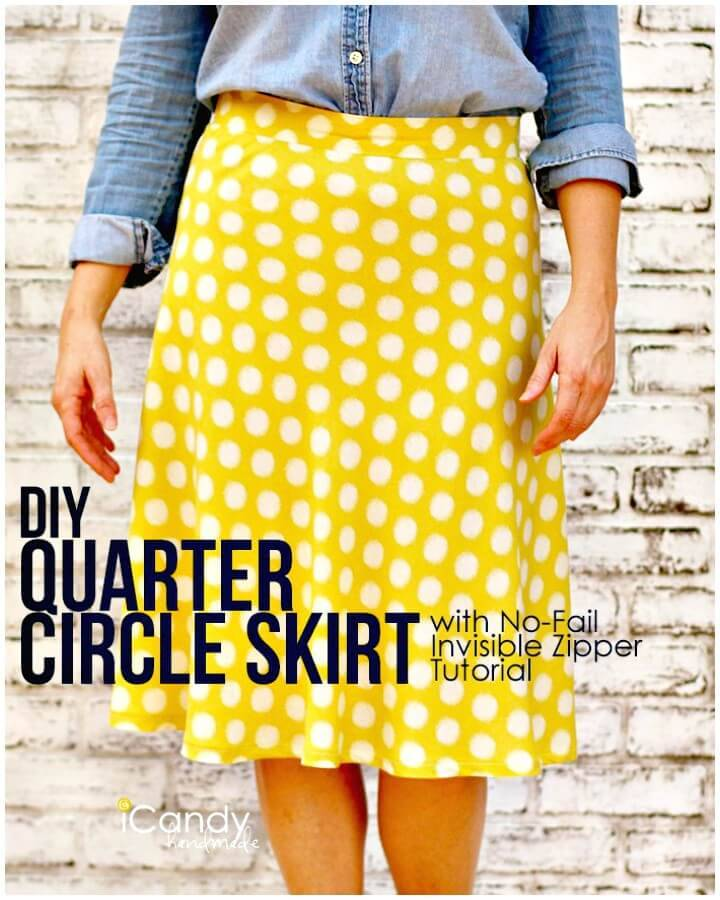 How to Make 1/4 Circle Skirt Sewing - DIY