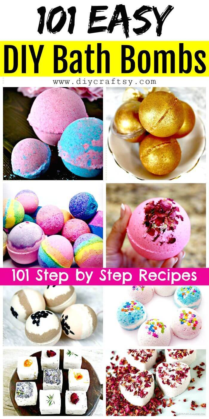 How to Make DIY Bath Bombs – 101 Easy DIY Bath Bombs Recipes - DIY Bath Bombs Recipe - DIY Bath Bombs - Easy Bath Bombs for Kids - DIY Crafts - DIY Projects - Easy Craft Ideas - DIY Videos