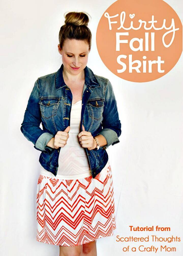 How to Make Flirty Fall Skirt - DIY