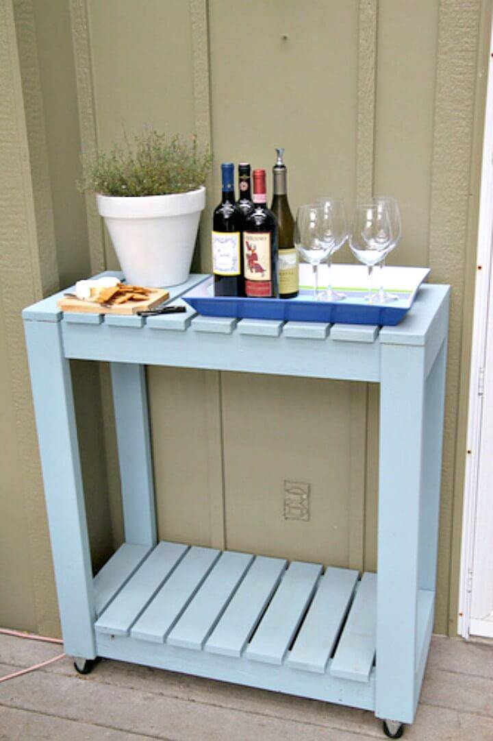 How to Make Outdoor Rolling Cart - DIY Garden Furniture Ideas
